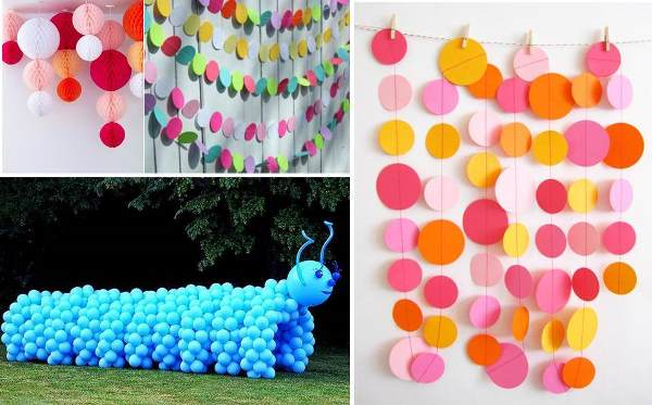 Colorful and Funny Decorations for Kids Party