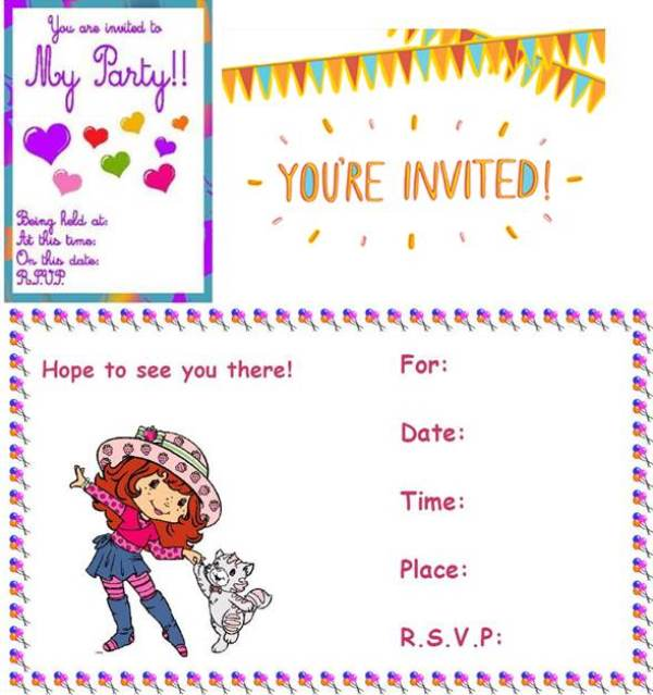 Kids Party Invitation Card Ideas