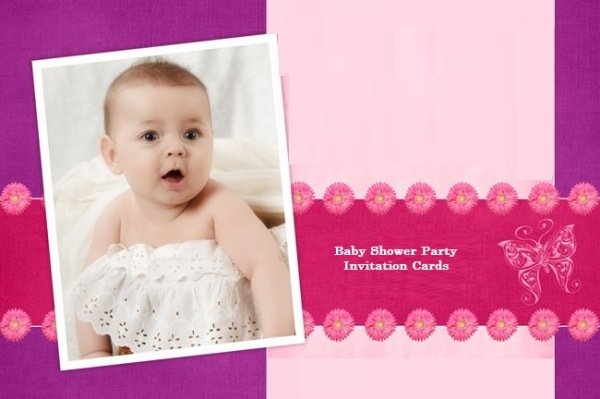 Baby Shower Party Invitation Cards