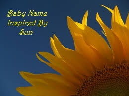 Baby Name inspired by Sun