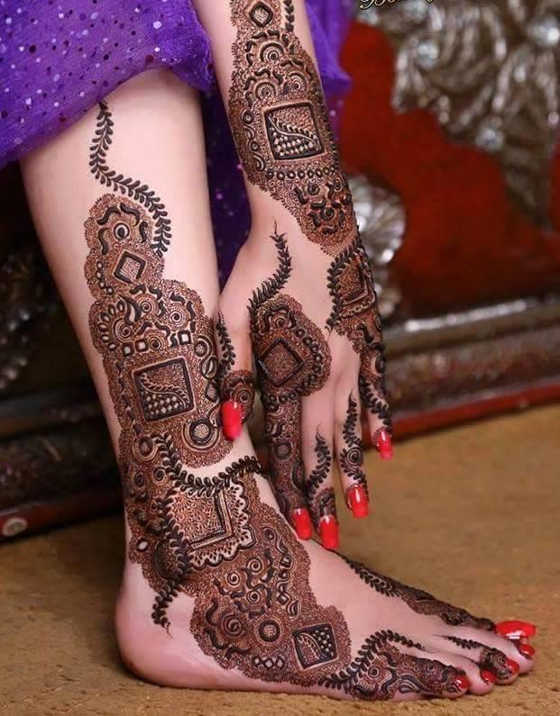 karwa chauth mehndi designs feet