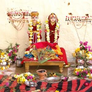 Gauri-Parvati-and-Isar-Shiva-at-Gangaur